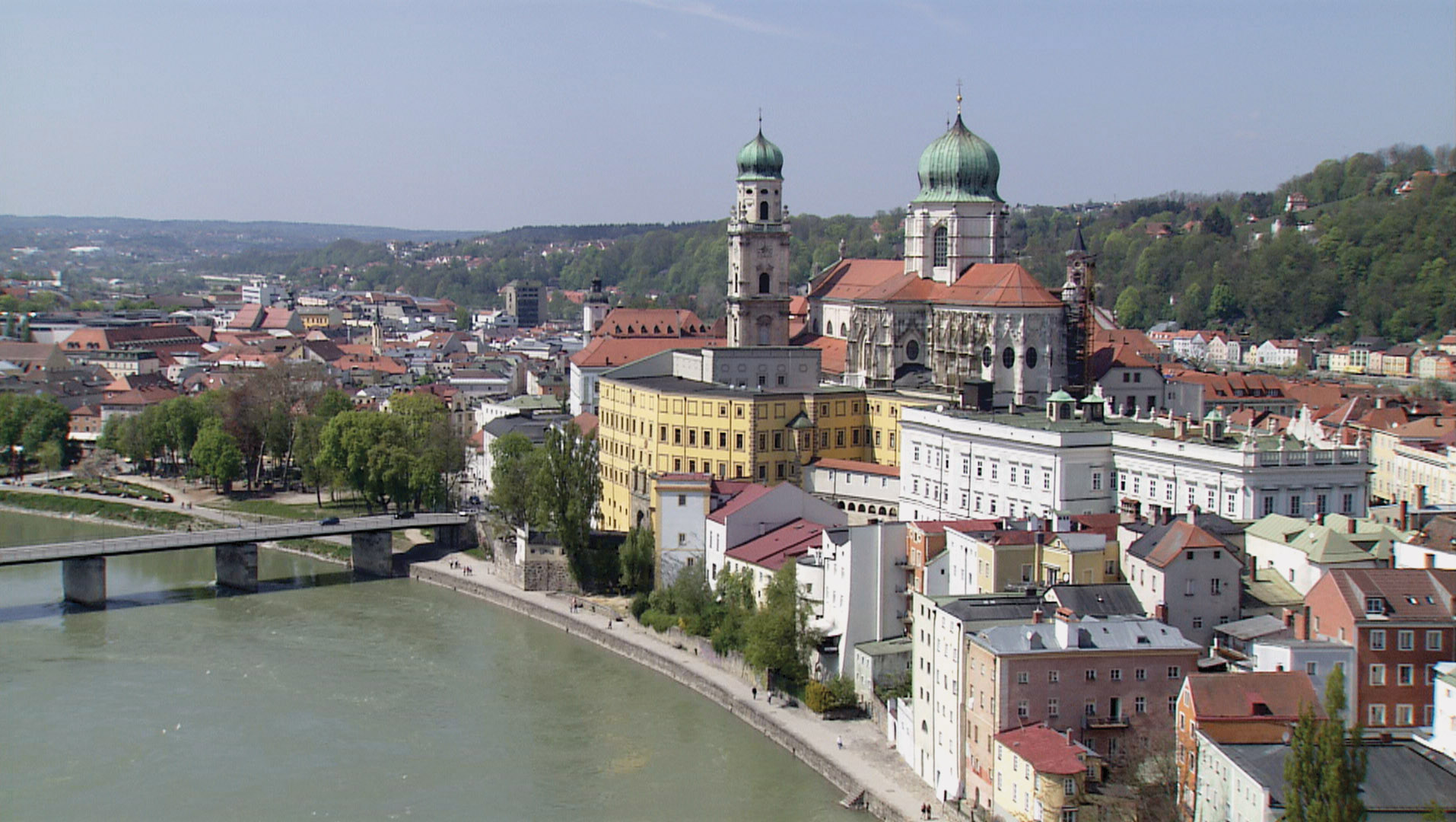 Passau Germany  city photos : CUTLINE: The distinct colors of three rivers meet in Passau.