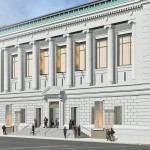 Architectural rendering of the new Central Park West entrance to the New-York Historical Society.  Credit: Platt Byard Dovell White Architects