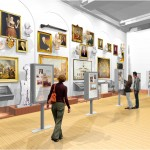 Architectural rendering of the New York Rising exhibit in the new Smith Gallery at the New-York Historical Society.  Credit: Platt Byard Dovell White Architects