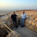 Netanyahu and Greenberg at sunrise in Masada - credit Tina Hager