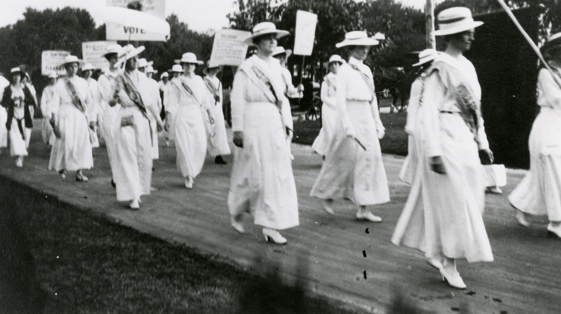 In 1913, Mrs. Anne Dallas Dudley led a march from the Tennessee capital to Centennial Park. Photo courtesy of Pretzel Pictures.